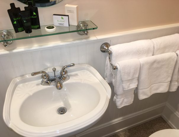 Complimentary bath amenities and plenty of fresh towels.