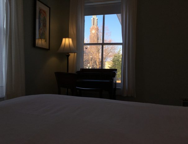 Blue Room - Clock tower view.